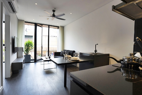 Pretty 1 bedroom apartment 501 HH32 with balcony for rent in Tay Ho