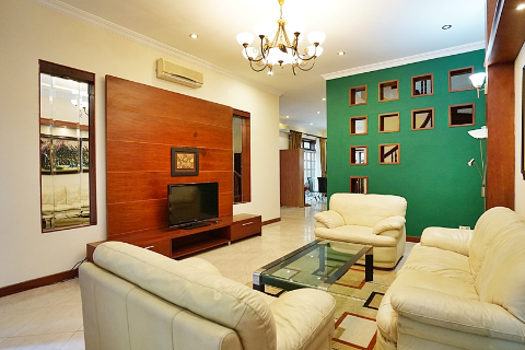 Elegant villa with 4 bedrooms for rent in Ciputra, Tay Ho District.