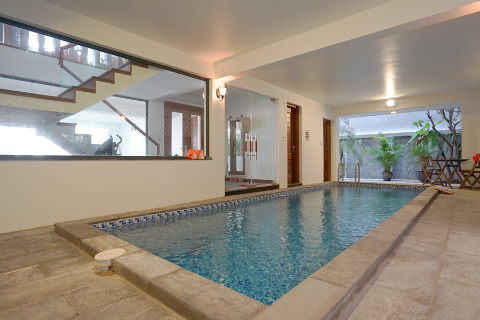 Spectacular 5 bedroom villa for rent in Tay Ho with swimming pool, car access