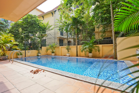 Gorgeous 4 bedroom villa with outdoor swimming pool for rent in Tay Ho