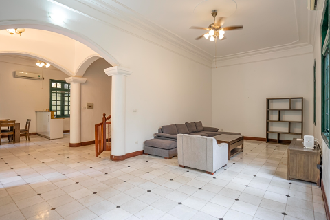 Spectacular 4 bedroom villa with spacious garden for rent on To Ngoc Van street, Tay Ho