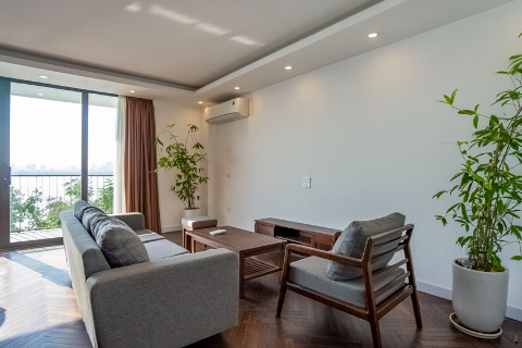 Brand new and modern 3-bedroom apartment, lake view for rent in Yen Phu Village