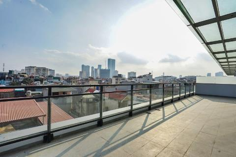 Sunny 1 bedroom apartment with huge balcony for rent in Thuy Khue, Ba Dinh