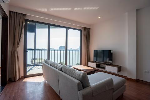 Lake view 2 bedroom apartment on the top floor for rent in Quang Khanh, Tay Ho.
