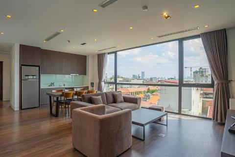 Bright and modern 3 bedroom apartment for rent on To Ngoc Van street, Tay Ho