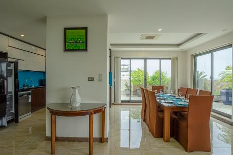 Penthouse 4 bedroom apartment with spacious balcony for rent in Tay Ho, Hanoi