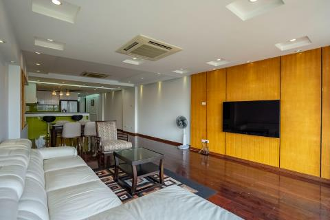 Spacious and lake view apartment with 3 bedrooms for rent in Yen Phu village, reasonable price