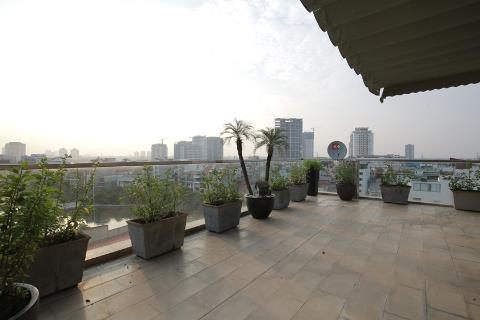 Top floor duplex 4 bedroom apartment with a huge balcony for rent on Trinh Cong Son street, Tay Ho