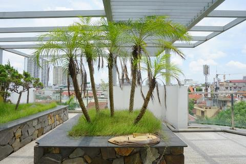 Lake view 3 bedroom apartment with a spacious garden for rent in Tay Ho