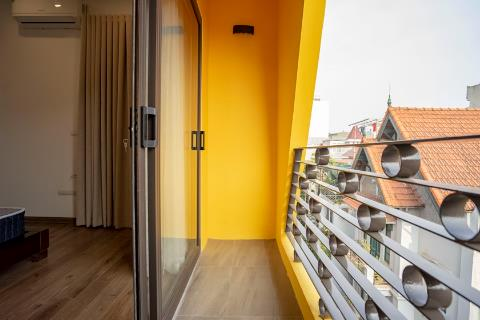 Brand new and modern duplex one-bedroom apartment for rent on Dang Thai Mai street