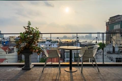 Stunning duplex 3 bedroom apartment with a spacious balcony for rent on To Ngoc Van street, Tay Ho
