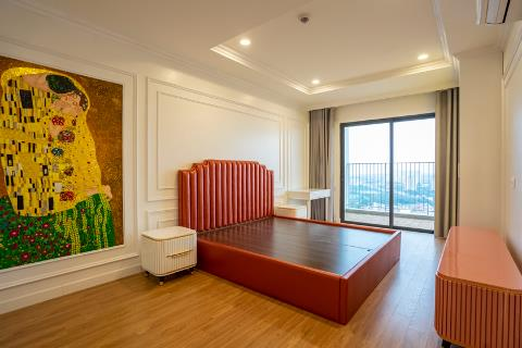 Modern design 4 bedroom apartment with a spacious balcony for rent in Kosmo, Tay Ho