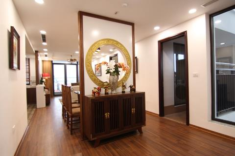 Good quality 3 bedroom apartment for rent on To Ngoc Van street, Tay Ho, free gym