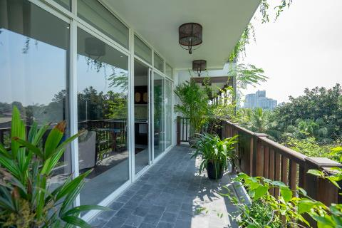 Modern and bright 3 bedroom apartment for rent on Xom Chua, Tay Ho