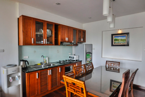 Spacious 1-bedroom apartment for rent in Truc Bach, Ba Dinh, Hanoi