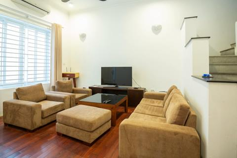 Lovely 3 bedroom house with a small front yard for rent in Tay Ho