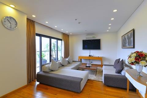 Duplex 3 bedroom apartment with modern furniture for rent on Trinh Cong Son street, nea